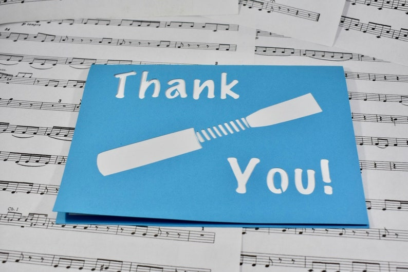 Oboe Reed Thank You Card