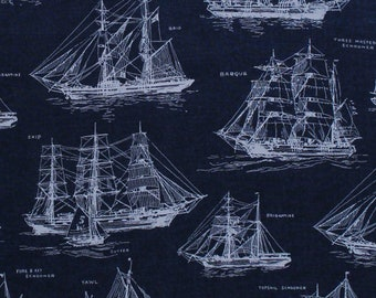 Amazing Tall Ship Fabric Etsy Wiring Cloud Hisonuggs Outletorg