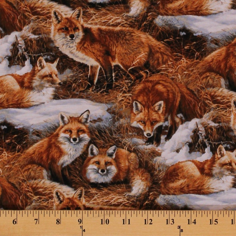 Cotton Elkmont Ridge Packed Elk Animals Cotton Fabric Print by the Yard D463.07