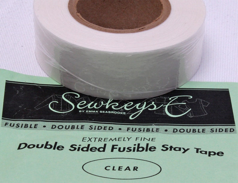 1.25 X 25 Yards SewkeysE Extremely Fine Knit Interfacing Sold by The 25 Yard Roll White Fusible Knit Stay Tape White M494.07