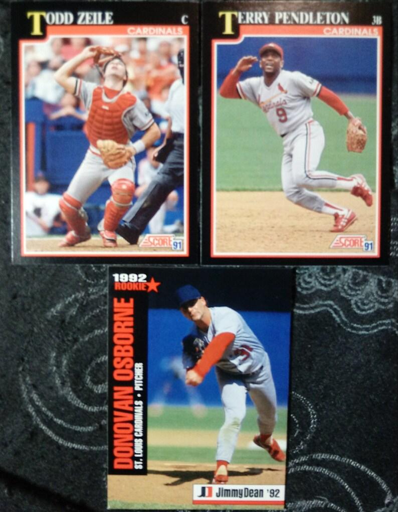 St Louis Cardinals Baseball Collectible Cardsbaseball Cardstodd Zeileterry Pendletondonovan Osbornecardinals Playerscardinals Cards