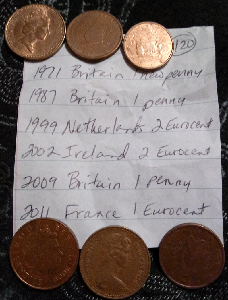Sac LaEtsy 120 Monnaies Du Monde De clFJ1K