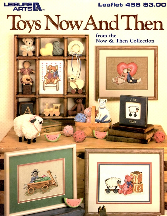 Toys Now And Then Cross Stitch Pattern Leaflet Etsy