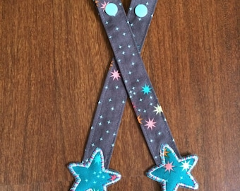 Reach Straps: Stars on stone (Shine) fabric with Stars