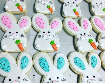 Peek a boo Easter bunny cookies
