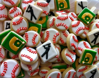 Mini Baseball Cookies
