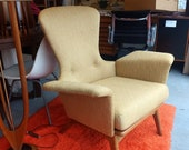 Rare mid century modern Adrian Pearsall for Craft Associates Wingback Lounge Chair