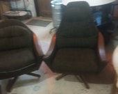 Beautiful Pair of Adrian Pearsall for Craft Associates His and Hers Lounge chairs