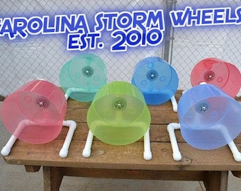 The Carolina Storm Bucket Wheel, custom made for hedgehogs, Syrian hamsters and more.