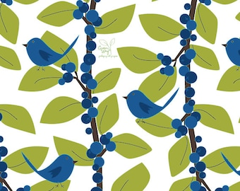 "Blue Bird Gift Wrap - 24"" x 120"" Roll"