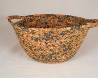 Fabric coiled bowl / basket