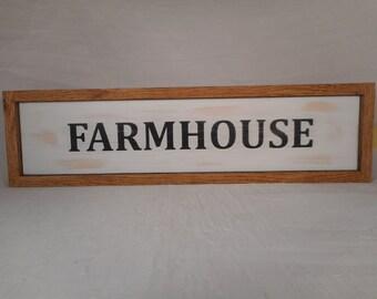 Handmade wooden farmhouse sign / home decor