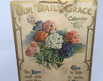 Vintage Calendar Holder