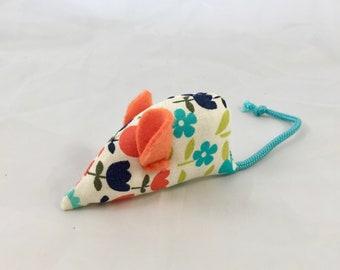 Cat toy, Vintage retro fabric catnip mouse