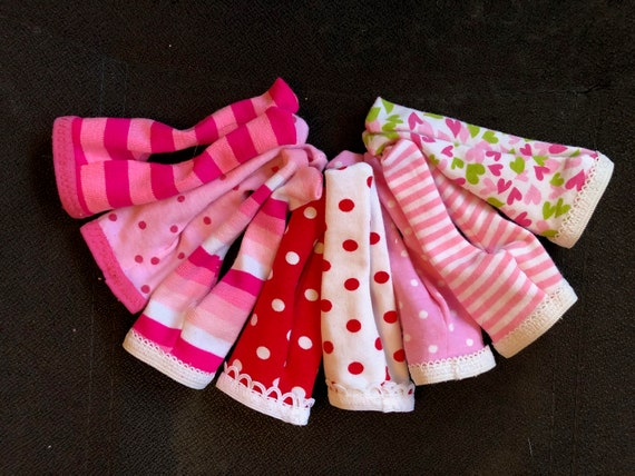 "Shades of PINK /& RED Choice of Valentine Tights for 14/"" Wellie Wishers Doll"