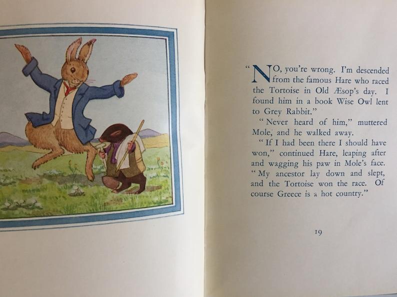 Vintage Tiny Book Moldy Warp the Mole Alison Uttley image 6