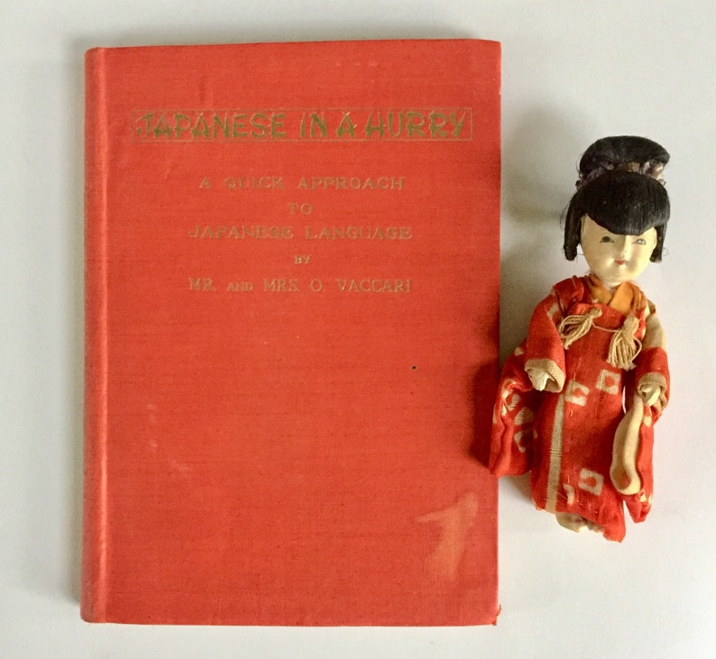 b5df2cff5 Charming Tiny Book Japanese in a Hurry Quick Approach to   Etsy