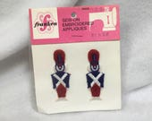 Vintage Franken Sew-On Toy Soldiers Embroidered Appliqués Package of 2 1960 39 s