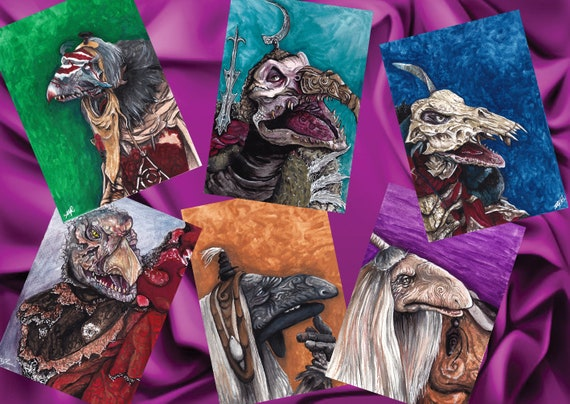 Urskeks Skeksis And Ur Ru Prints A6 Dark Crystal Etsy But the experiment ended in disaster and the urskeks were split into two new species: urskeks skeksis and ur ru prints a6 dark crystal