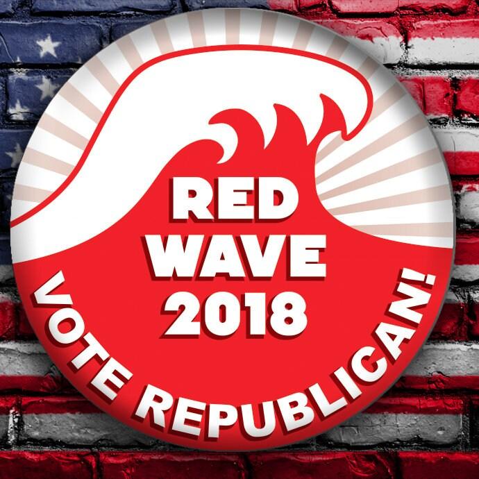 November Red Wave 2018 Version 2 Vote Republican Button Etsy