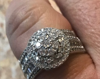 BLOW OUT Vintage Sterling Silver Ring Cubic Zirconia George