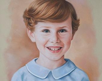Pastel portrait children portraits