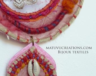 Kite Necklace, Talisman Necklace, Textile Necklace, Braids Necklace, Butterfly, Boho, Boho, Nomad Chic, Hippie, Gipsy, Ethnic
