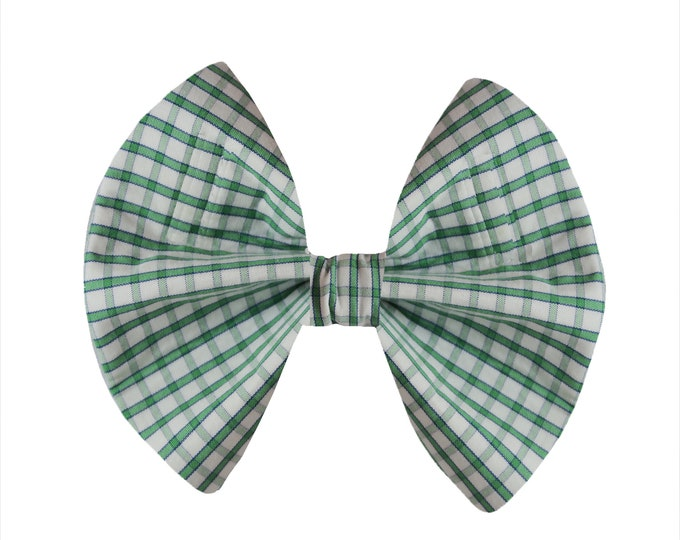 Green & White Plaid