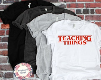 f77b3db4f7fd Stranger Things, Stranger Things Teacher Shirt, Teacher Shirts, Stranger  Things Shirts, Teacher Shirts, Teacher Appreciation, Teacher