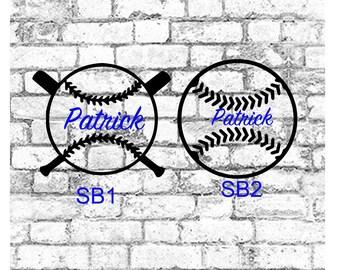 Softball decal, Baseball Decal,  Baseball YETI decal, Softball Team Decal, Personalized Baseball Decal, , Vinyl Softball/Baseball Decal