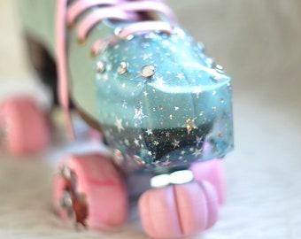 Sparkle Star Transparent Vegan Toe Guard Roller Skates | Cap Guards | Jelly | Clear | Rhinestone Rivets | Different Colors |
