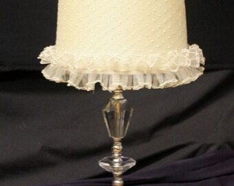 Acrylic lamp shade etsy vintage beautiful crystal like acrylic table lamp wshade aloadofball Image collections