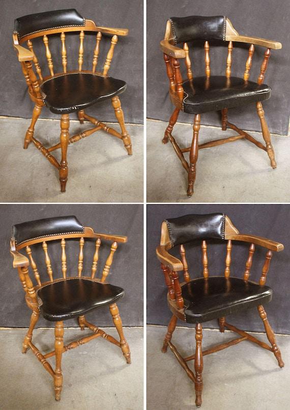 Stupendous Set 4 Vintage Antique Hale Wood Wooden Fabric Dining Side Chair Arm Armchair Pabps2019 Chair Design Images Pabps2019Com