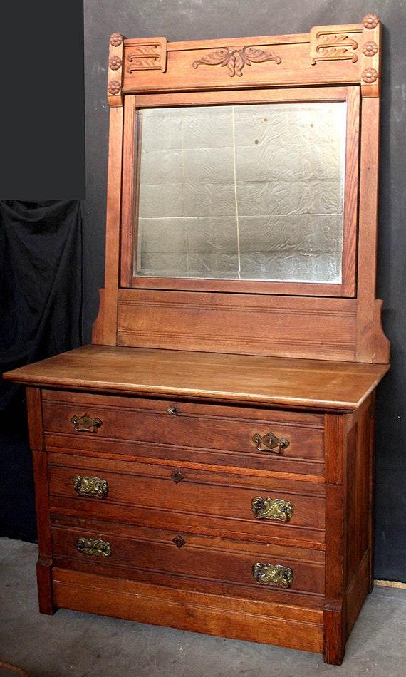 Antique Vintage Eastlake Oak Wood Wooden Dresser Chest Vanity Etsy,How To Get Rid Of Sugar Ants In House