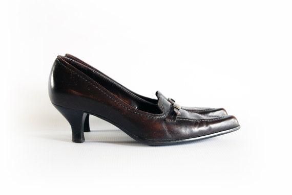 Vintage franco sarto dark brown leather