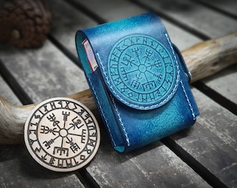 Vegvisir stamp for leather crafting   Runic compass stamp