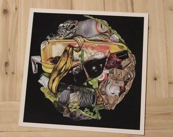 Still Life Oil Painting Print Trash 12X12