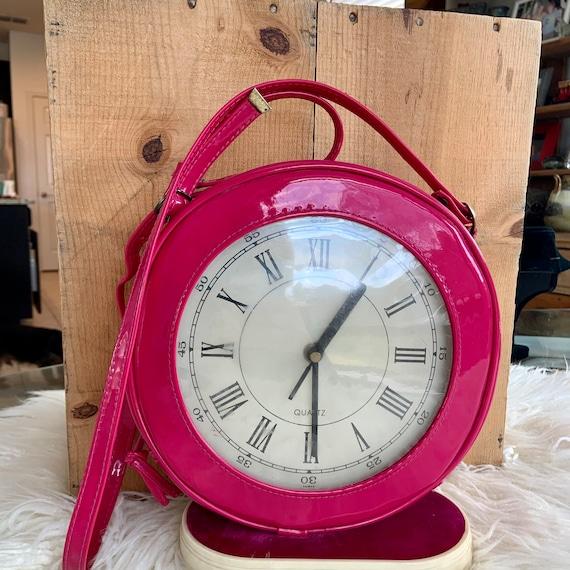 1980s fun novelty clock shoulder /crossbody purse