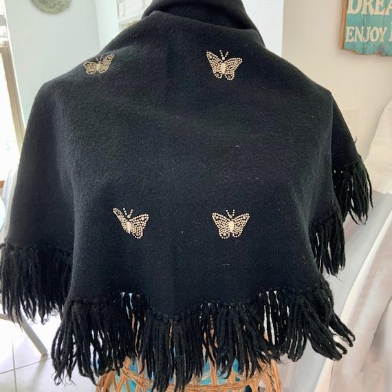1950s Bonwit Teller butterfly shawl