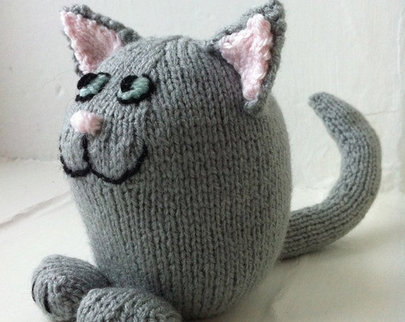 Shelf Cat soft toy Knitting Pattern PDF