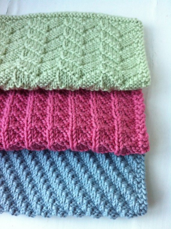 Three Reversible Cloths Knitting Pattern