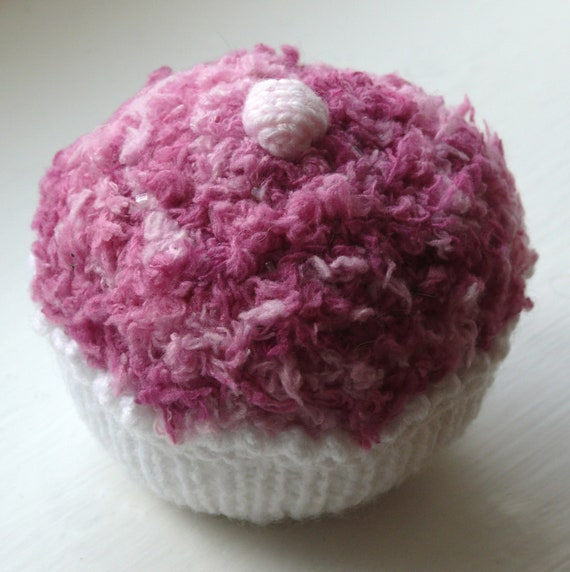 Fluffy Cupcake Knitting Pattern PDF