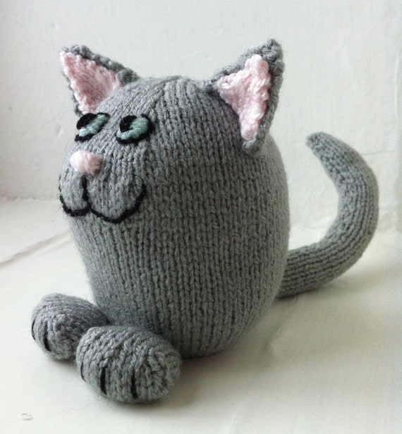 Knitting Pattern for Shelf Cat soft toy