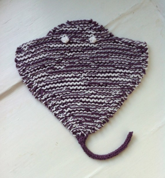 Rayfish Dishcloth Knitting Pattern PDF