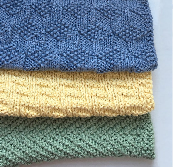 Three More Reversible Cloths Knitting Pattern PDF
