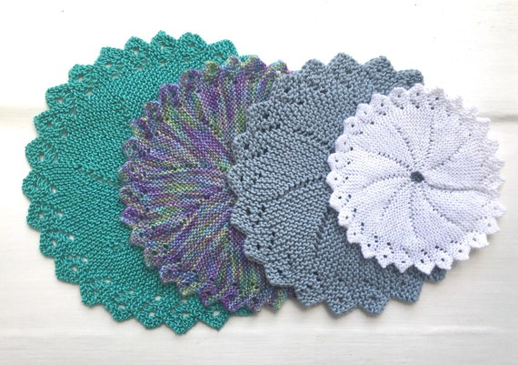 Lace Flower Circle Knitting Pattern PDF