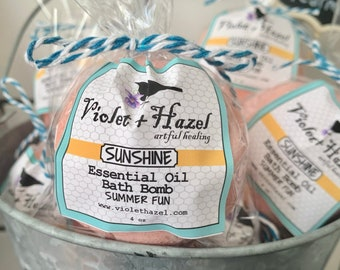 SUNSHINE Essential Oil Bath Bomb - Summer Fun