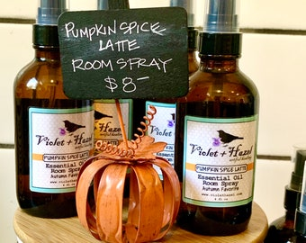 PUMPKIN SPICE LATTE: Essential Oil Room Spray, Autumn Favorite