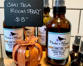 CHAI TEA: Essential Oil Room Spray, Sweet & Spicy