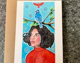 Fly Like a Bird Blank Greeting Card I Blank Note Card